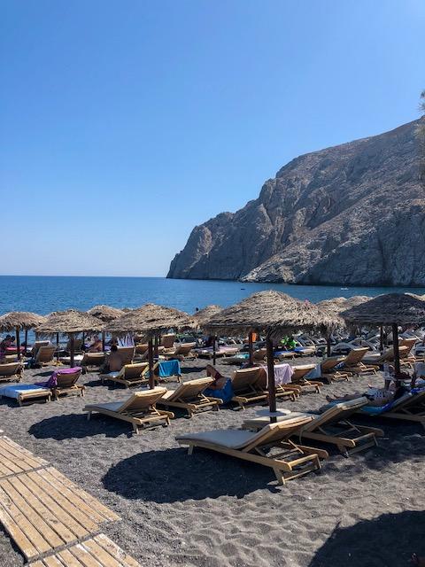 Santorini travel guide black sand beach