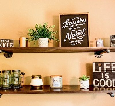 How to Build Industrial Pipe Shelving