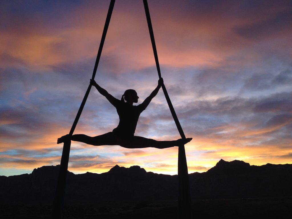 beginner aerial yoga experience