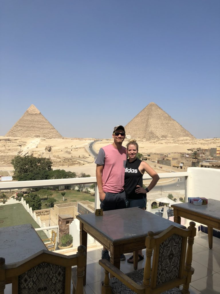 view from the top of our hotel in Egypt