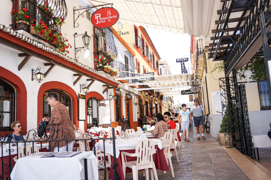 street of restaurants Spain travel guide