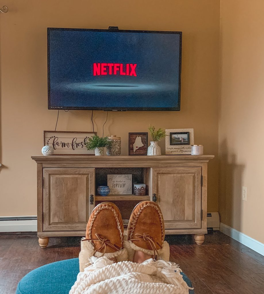 Watching Netflix on the Couch