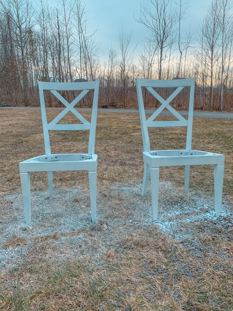 painted chairs for bench