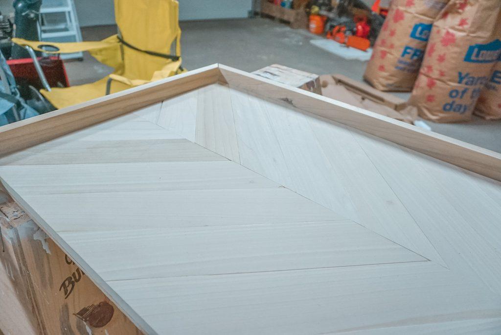 herringbone coffee table edges