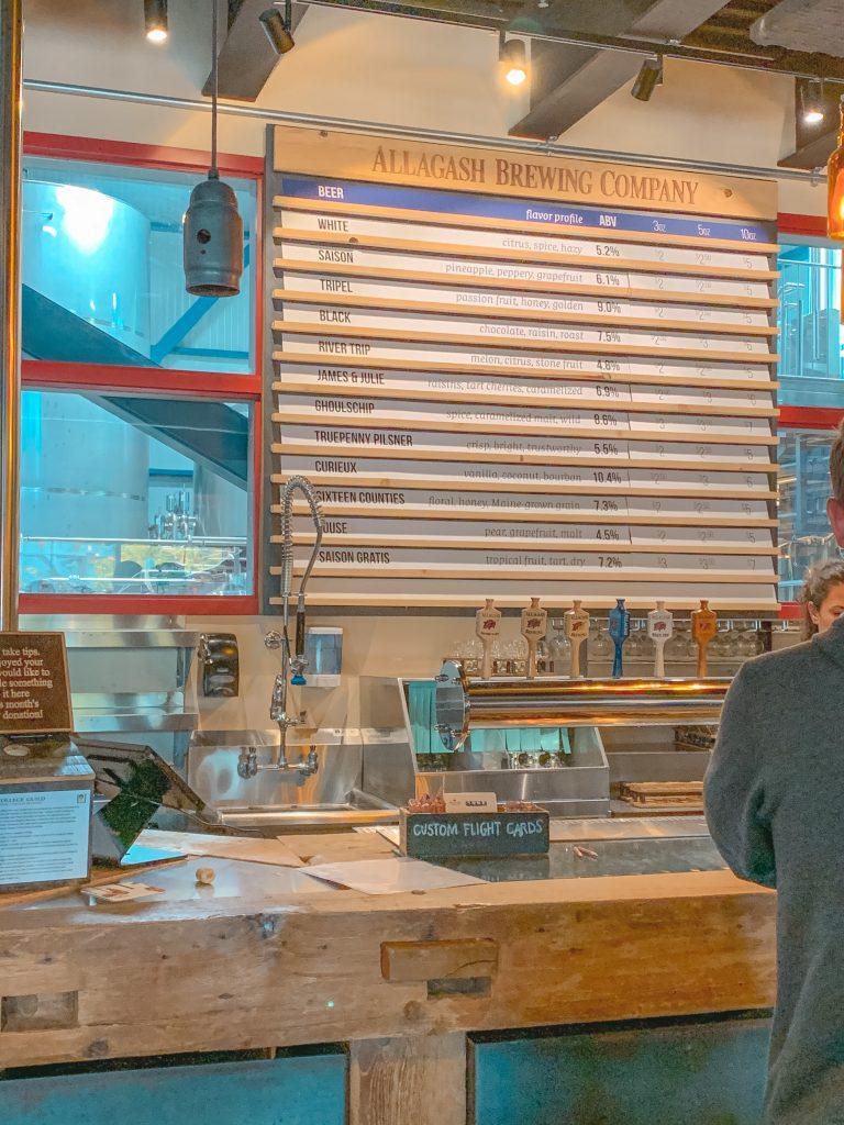 Tasting Room Allagash Brewery