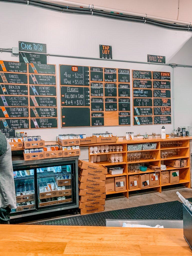 foundation brewing tasting room