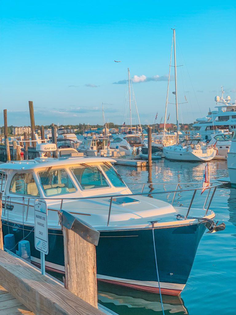 Boats in Portland Maine Harbor