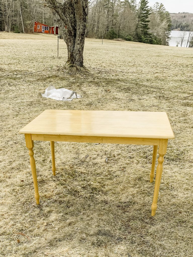 upcycled table cop before