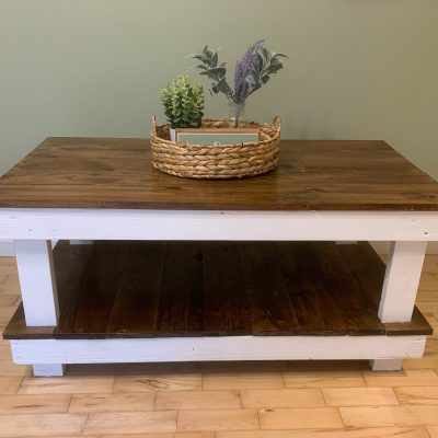 Easy DIY Farmhouse Coffee Table Tutorial