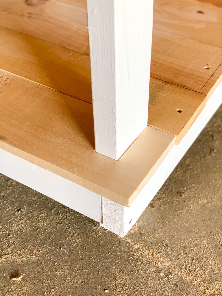 bottom shelf boards
