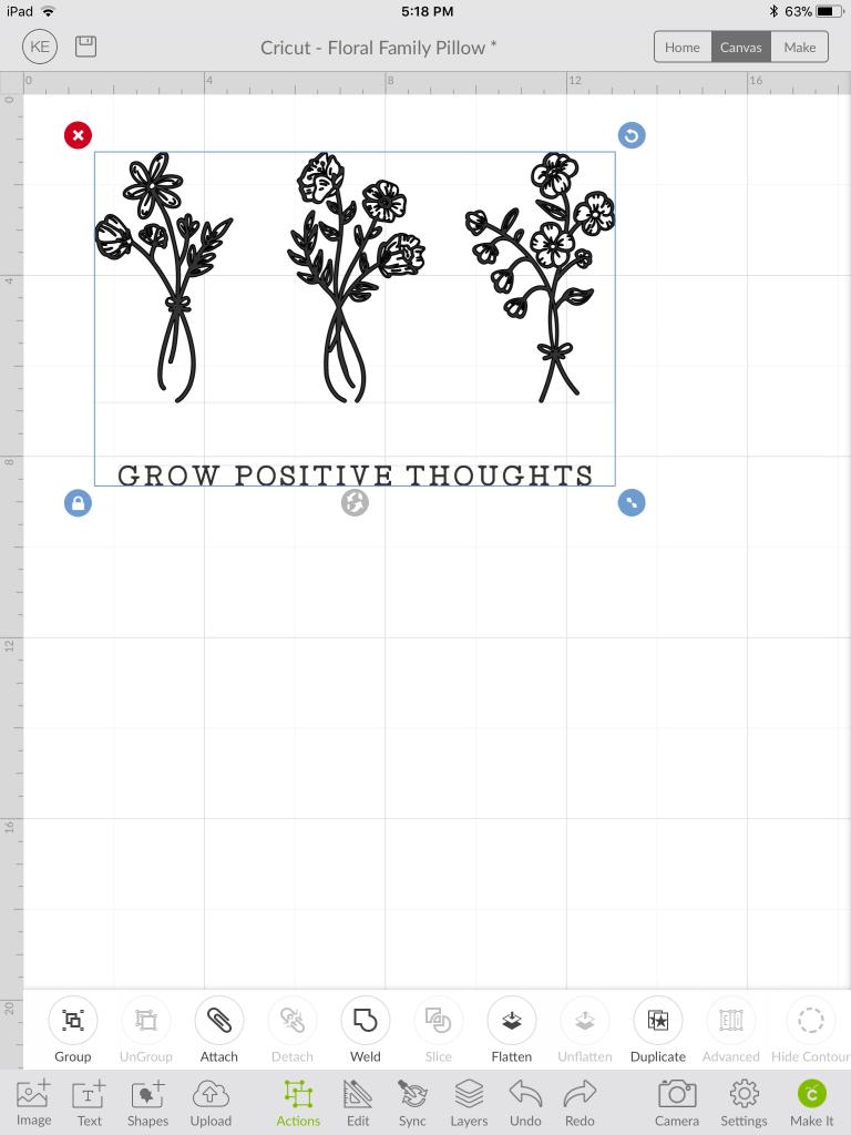 Designing your print in Cricut design space