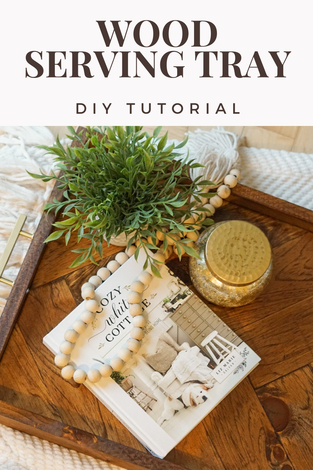 These DIY wood serving trays make such cute home decor, but are also functional.  Making this serving tray is easier than you might think!