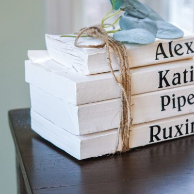 DIY Book Stack Home Decor