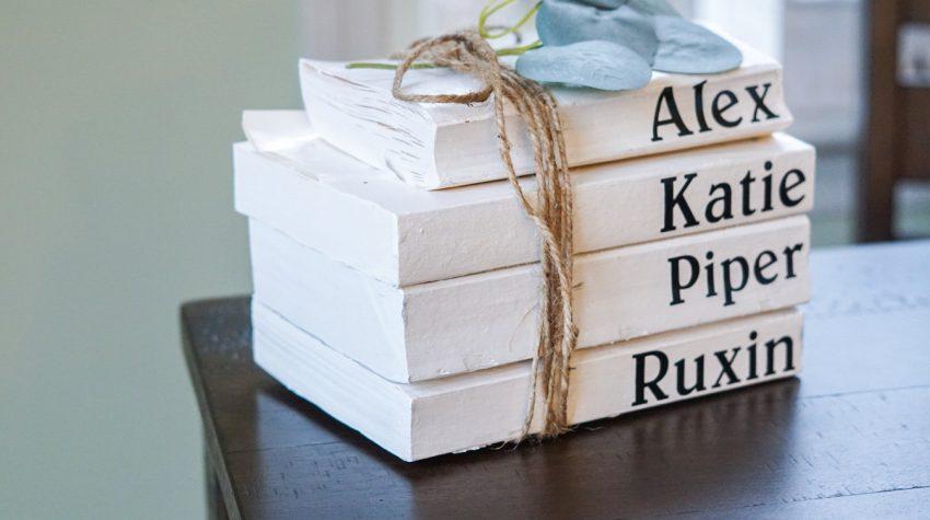 DIY Book stack home decor