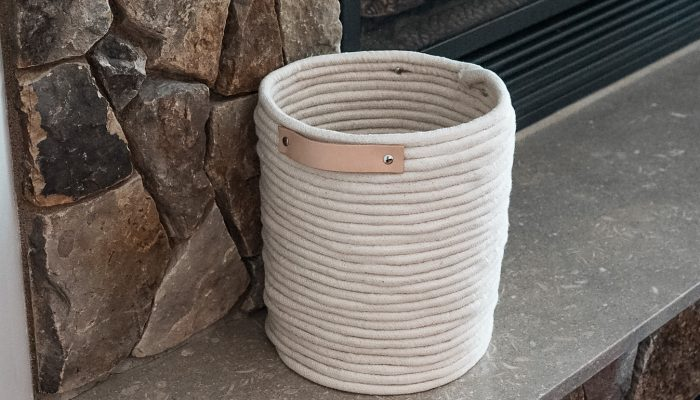 Easy DIY Rope Basket Tutorial