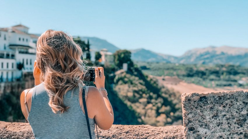 taking a photo in spain