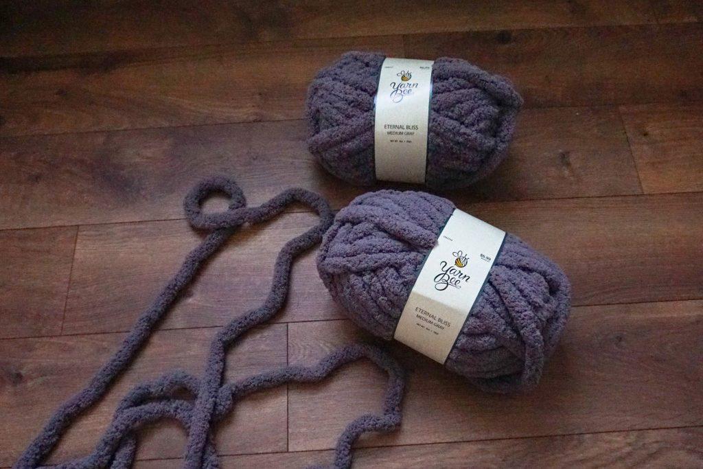 DIY knit blanket chenille yarn